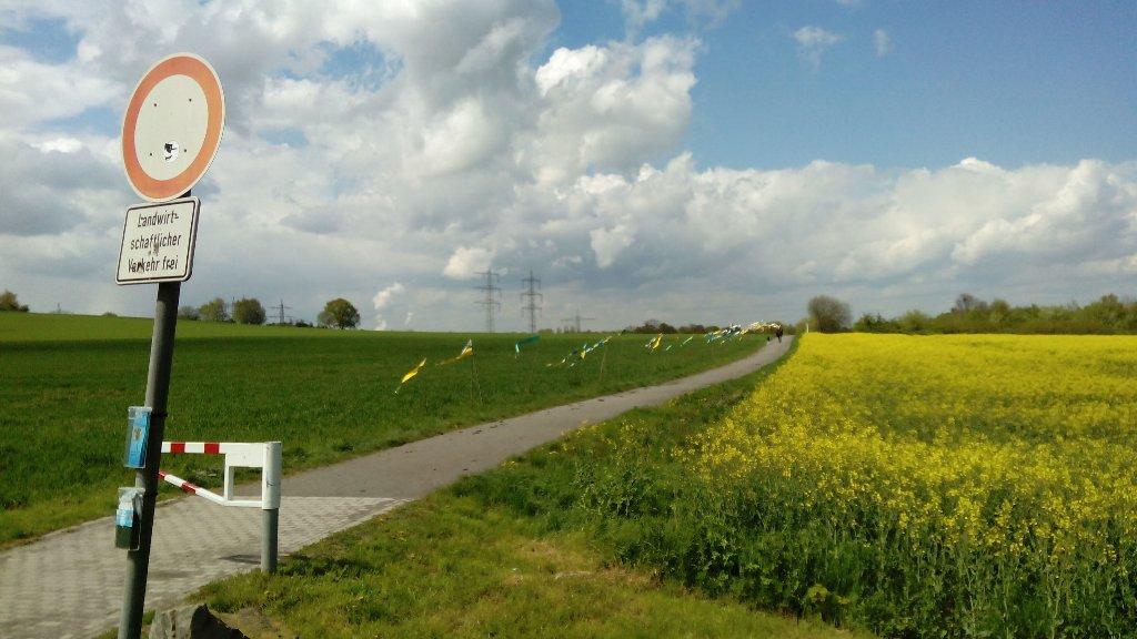 Klimawochen E GE BO 2016 Fahnen Mechtenberg Handyfoto Schruck IMG_20160428_141317